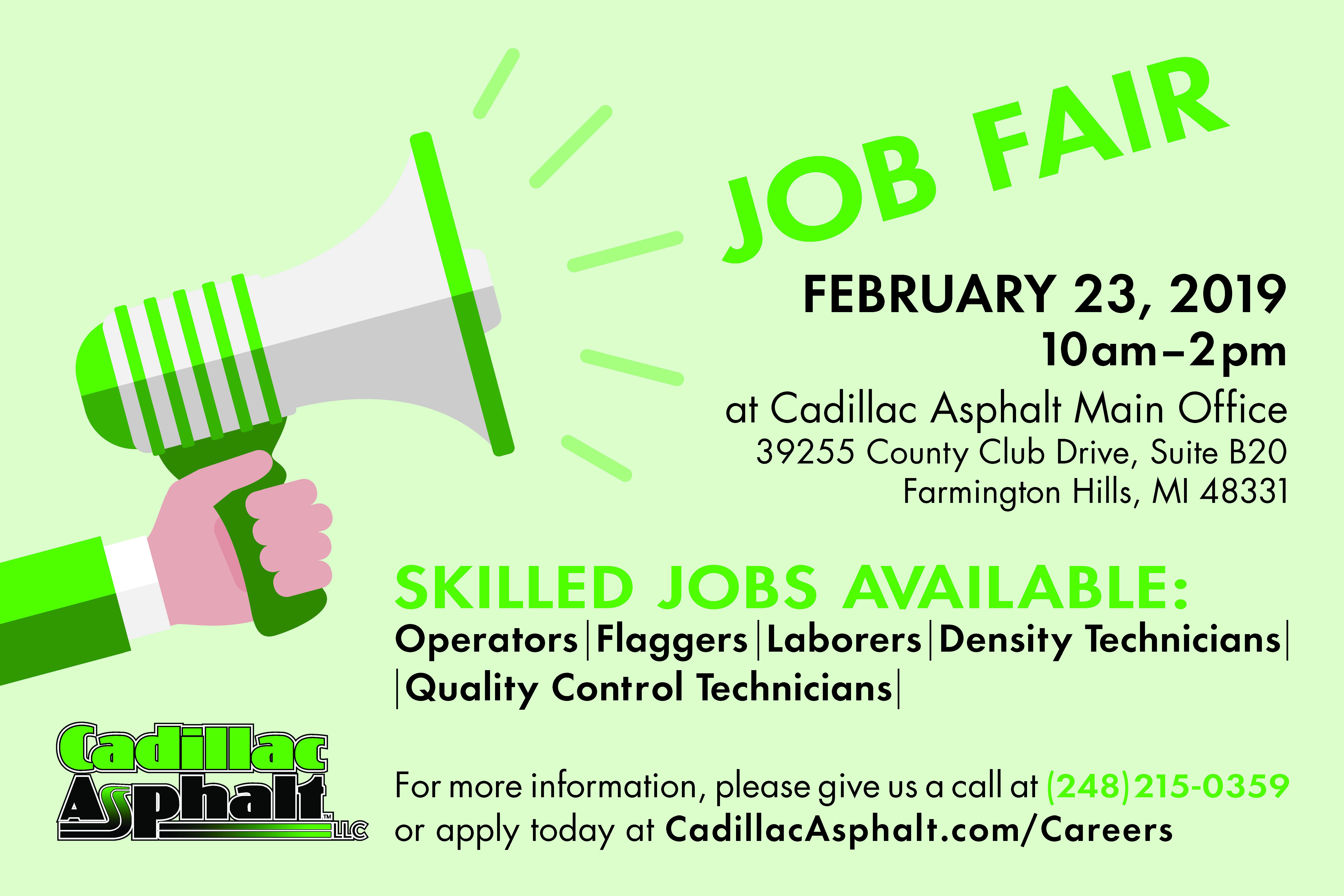 Cadillac Job Fair Announcement-C4